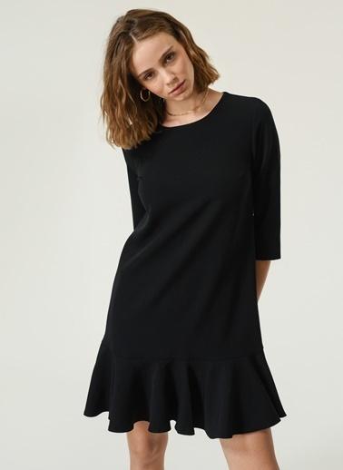 NGSTYLE Kadın Volanlı Mini  Elbise NGKAW20EL0017 Siyah